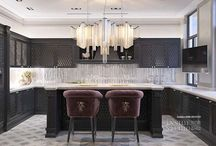 Дизайн интерьера кухни / Дизайн интерьера кухни в готическом стиле. Архитектор дизайнер Irina Richter  Inside-Studio