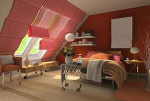 Attic bedrooms / Attic bedroom interior design ideas