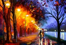 Regenbilder Regenbogenfarben