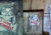 Bucharest: Street Art / Graffiti, sticker art, street installation or sculpture