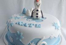ledové království dort