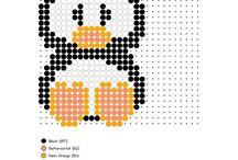Pixelhobby en strijkkralen ideeën :-)
