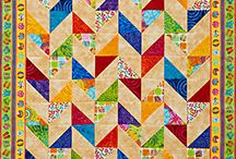 Triangle Quilts / Quilt designs you can make by printing the shapes on fabric with Inklingo.