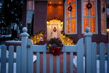 Dressing the outside of your home this Christmas / Lovely simple ways to make the outside of your house sparkle as much as the inside this Christmas.
