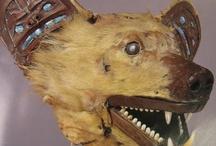 Amerique grand nord - côte ouest canada - masques / masques du grand nord américain et de Colombie Britannique.
