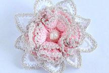 цветы / вязание цветов крючком