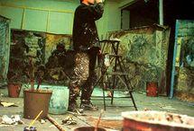 pintores estudio