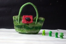 Small Purses - FeltHappiness / Small handcrafted, wet felted purses