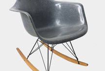 Vintage Eames chairs / Vintage Eames chairs produced by Herman Miller USA