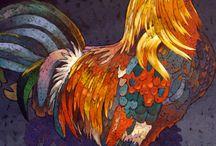 disegni galli