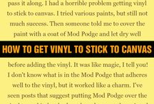 Vinyl Tips/Tricks/Products