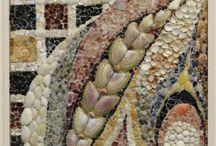 shell & pebble mosiac