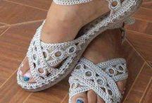 обувь вязанная