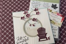My 2017-18 Stampin Up cards