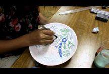 ζωγραφική σε πιάτο