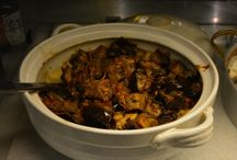 "Mana's Kouzina Kouzina: Dinner / We serve dinner in traditional Greek ""gastres."" You choose what looks best!"