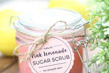 Homemade sugar scrub