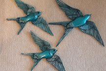 polyester kuşlar