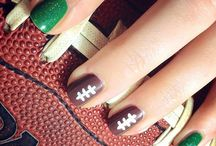 Super Bowl Nail Ideas