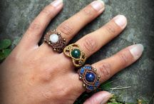 macrame rings - rings