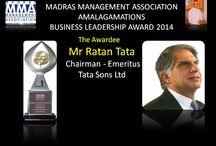 MADRAS MANAGEMENT ASSOCIATION / MMA AMALGAMATIONS BUSINESS LEADERSHIP AWARD