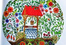 Jardim secreto por michito / Sobre livrinhos de colorir
