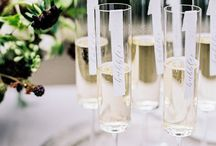 Champagne Escort Cards Concepts