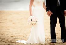 Real Wedding {Modern Montauk Wedding} / A modern take on a beach wedding. Palette of soft grey, ivory & blush with black accents. Clean lines and tasteful details.