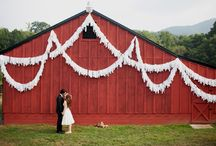 Barn Wedding - Exterior Decor / Barn wedding ideas. / by IntimateWeddings.com