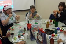 Parnell Senior Center Arts & Crafts Event / #Christmas is almost here. We are helping #seniors living around the communities of #Whittier to get into the holiday spirit by holding a wonderful arts and crafts event for them at the Parnell Senior Center / by A-1 Home Care, A-1 Domestic Professional Services