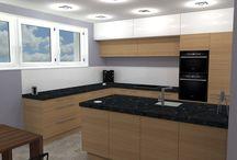 jak navrhnout kuchyň a obývák - očkodesign / Pokud i Vy si přejete návrh kuchyně čí obýváku, neváhejte mi zavolat, rád Vám pomohu.  Petr Molek 737167676 www.ockodesign.cz