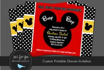 mickey mouse baby shower decorations
