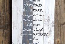tableaux en bois citations