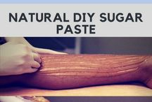 Sugar paste for leg hairs