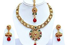 Indian Bollywood Madhuri Dixit Inspired Kundan Wedding Jewellery Set