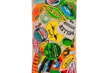 Travel Stickers · Miller Division · Longboard / Drop through, cóncavo medio, arce canadiense, flex medio. Freestyle Series