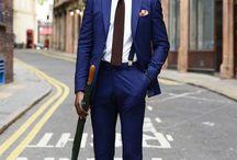 Niebieskie garnitury