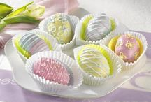 decorative ideas f pink yellow easter eggs