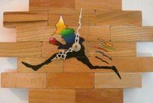 Orologi - Bottega Mastrociliegia / Orologi in legno decorati a mano.