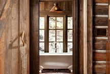 Houses wood & stone