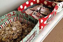 Fabric boxes and baskets / Коробочки и корзинки из ткани