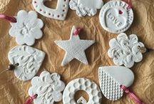 decoracion navideña con pasta de moldear