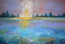 Peisaje in pastel      Landscapes Pastels / My pastels works