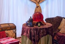 "Fortuneteller Theme Tent / ideas for a vendor theme tent for upcoming expo, with a ""Fortuneteller""/""Psychic"" theme."