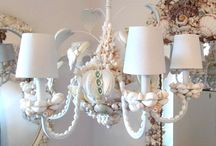 Seashell Chandeliers and Candelabras / My fave shell item has to be chandeliers!