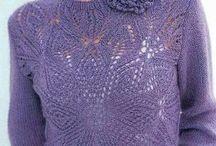 Пуловеры, свитера для женщин спицами