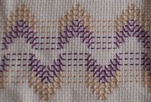 Embroider Swedish  weaving