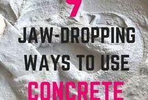 Itens feito de concreto