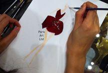 Rose petals fashion sketching