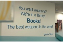 Books! The best weapons in the world!